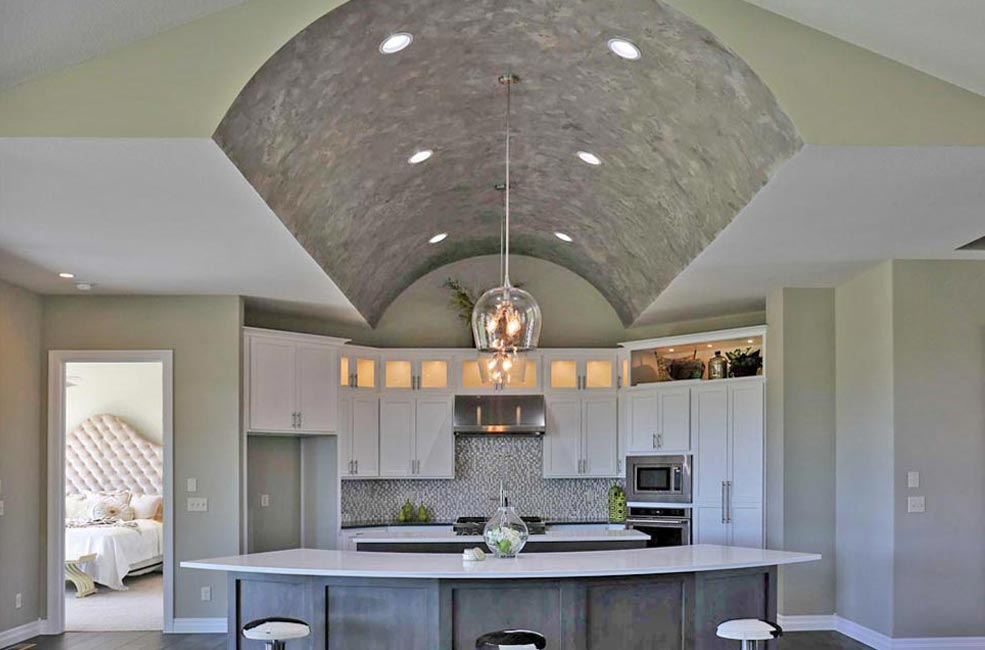 Kitchen built by Tri-M Construction Custom Home Builder